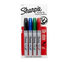 Sharpie Brush Tip Permanent Marker Set of 4