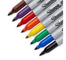 Sharpie Fine Point Permanent Markers, Assorted colors, 8-Count