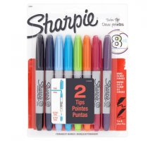Sharpie Twin Tip Assorted colors, 8-count Permanent Marker