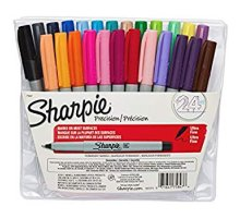 Sharpie Ultra Fine Point Permanent Markers, Assorted colors, 24-Count
